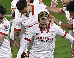 Sevilla zonder Luuk de Jong met minimaal verschil langs Valencia