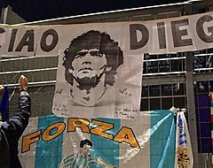VIDEO: Dochter Maradona in tranen na eerbetoon