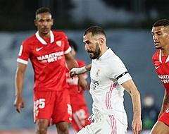 Real Madrid ontsnapt met dure remise tegen Sevilla