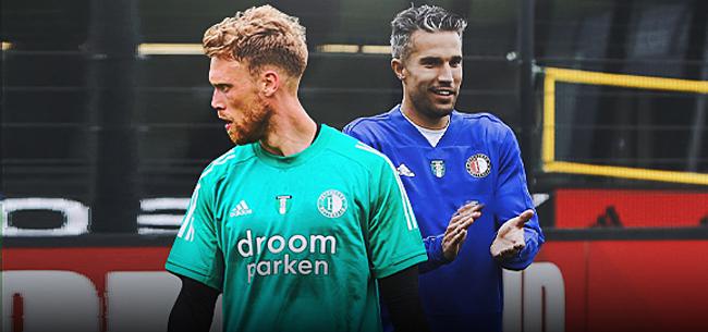 Foto: Jörgensen op weg naar uitgang bij Feyenoord
