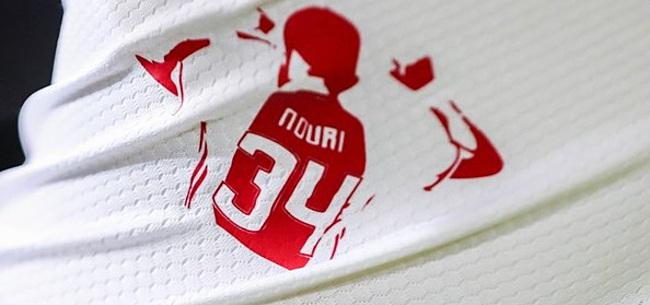 Foto: Ajax staat stil bij verjaardag Nouri: 'We denken aan je'