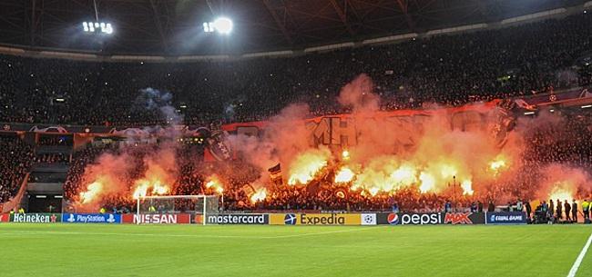 Foto: Ajax-aanhang protesteert tegen CL-hervorming