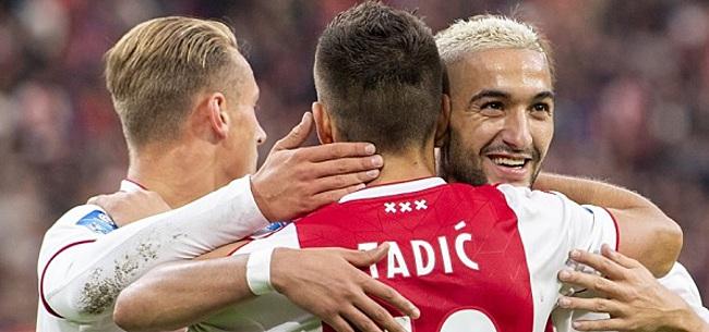 Foto: Ajax-fans fileren één man: