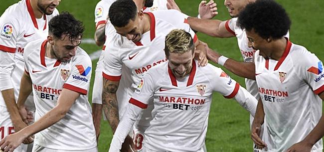 Foto: Sevilla zonder Luuk de Jong met minimaal verschil langs Valencia