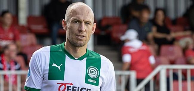 Foto: Arjen Robben ontbreekt week na rentree in selectie Groningen
