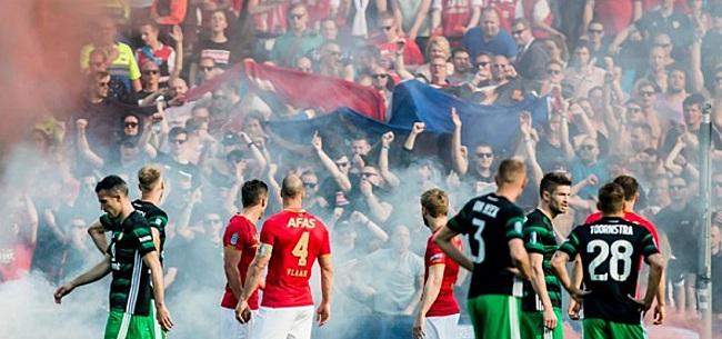 Foto: Van Praag haalt fel uit naar supporters AZ