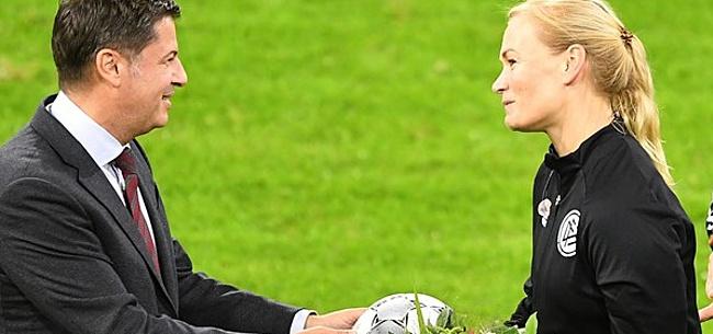 Foto: Vrouwelijke scheidsrechter neemt afscheid na Duitse Super Cup-finale