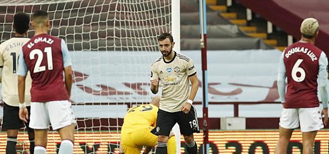 Foto: United wint ruim bij Villa na grote VAR-blunder