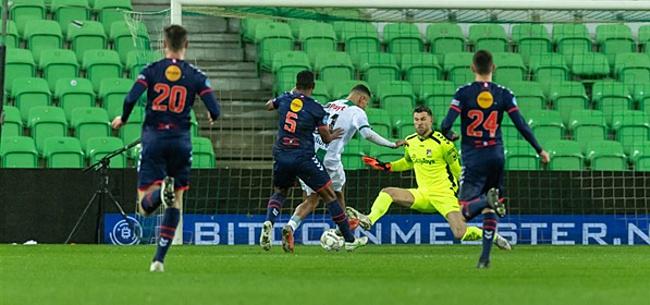 Foto: Puntendeling bij FC Groningen tegen FC Emmen