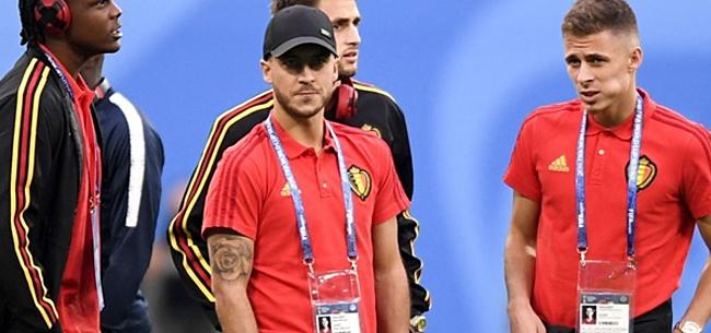 Foto: Hazard doet mysterieus over mogelijke basisplaats tegen Rusland