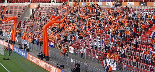 Foto: Bizarre actie bij Oranje-Montenegro: 'Schande!'