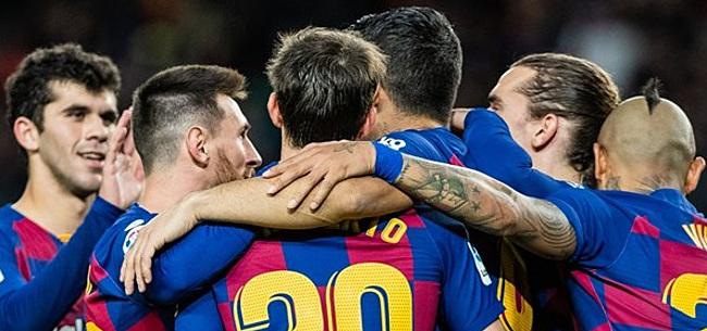 Foto: Spelers FC Barcelona bij aankomst in Napels getest op coronavirus