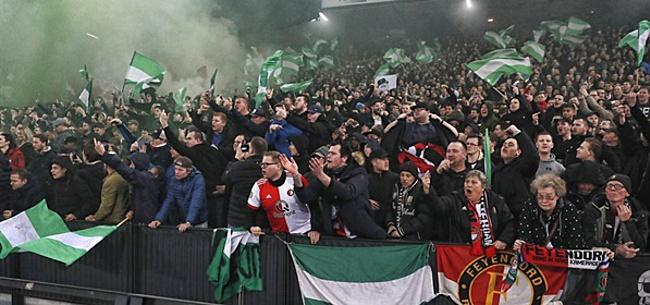 Foto: Onderlinge strijd tussen Feyenoordfans na 'hersenloos gedrag van bovenste plank'
