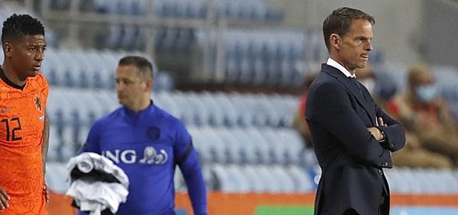 Foto: 'Oranje-selectie dropt bom onder positie De Boer'