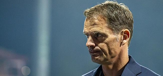 Foto: De Boer countert kritiek: 'Onder Koeman ook niet fantastisch'