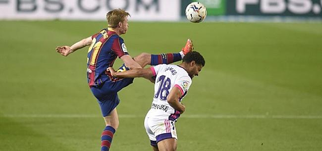 Foto: Opstelling Barcelona: 3-5-2 met De Jong én Dest