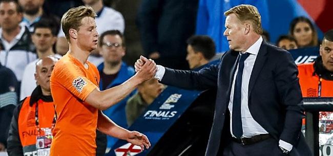 Foto: Koeman legde druk op schouders Frenkie de Jong