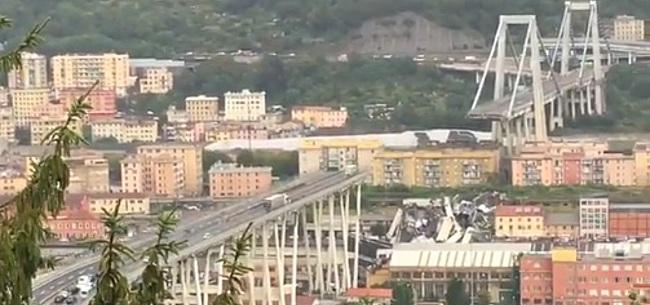 Foto: Serie A-duels uitgesteld vanwege brugramp in Genoa