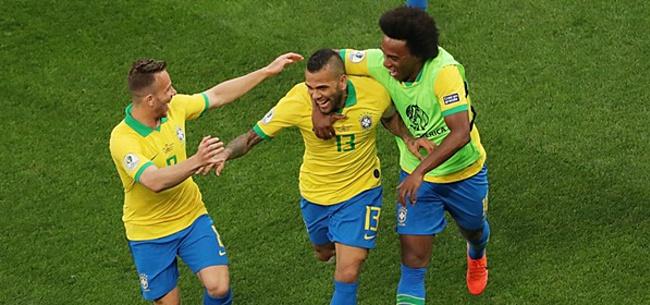 Foto: Brazilië laat Peru alle hoeken van het veld zien