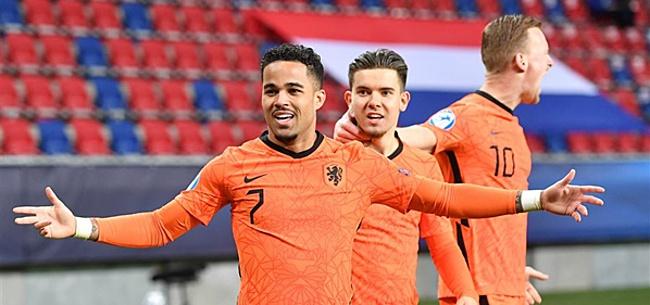 Foto: Jong Duitsland en Jong Roemenië kunnen Jong Oranje uit toernooi kegelen