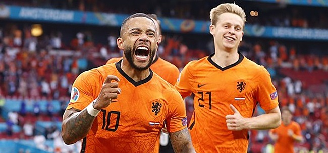 Foto: 'Memphis Depay dropt bom bij Oranje'