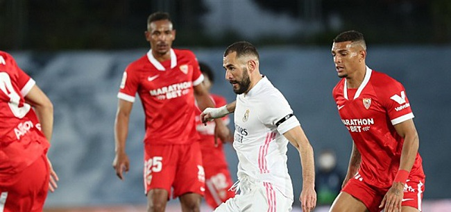 Foto: Real Madrid ontsnapt met dure remise tegen Sevilla