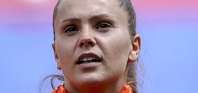 Foto: Zorgen bij Oranje Leeuwinnen blijven: Martens kijkt toe