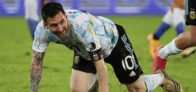 Foto: Argentinië laat zege glippen na schitterende vrije trap Messi