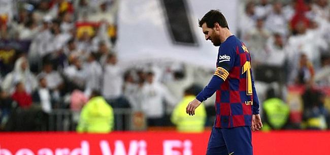 Foto: Messi droog in El Clásico: