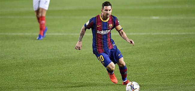 Foto: Lionel Messi waant zich Johan Cruijff