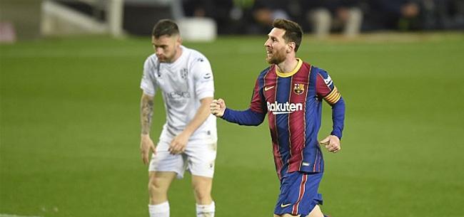 Foto: Messi oogst lof én kritiek voor Barca-meeting