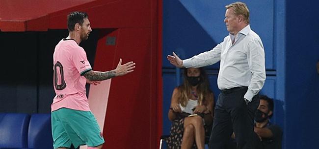 Foto: Koeman doet boekje open over 'Messi-oorlog'