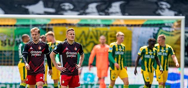 Foto: 'Bizarre actie van Feyenoord-selectie'