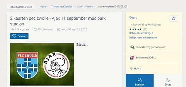 Foto: PEC Zwolle treedt op na 'Ajax-vondst' op Marktplaats