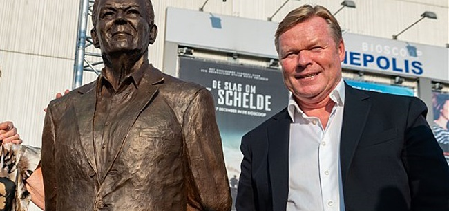 Foto: Standbeeld Martin Koeman onthuld door Ronald en Erwin: