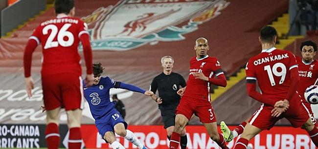 Foto: Mount schiet Chelsea naar zege bij Liverpool