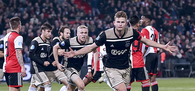 Foto: Ajax-fans walgen van Feyenoorders: