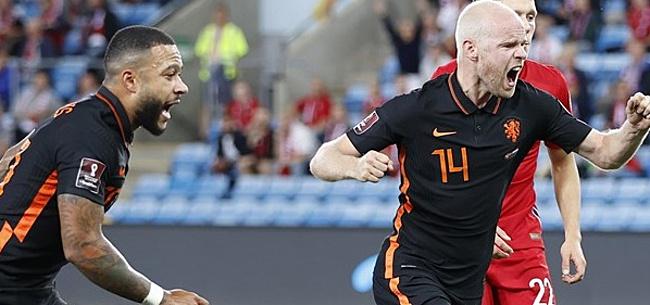 Foto: Puntverlies Oranje in Noorwegen bij rentree Van Gaal