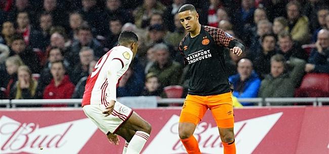 Foto: Mooi beeld: Ihattaren met Ajax-shirt, Gravenberch met PSV-tenue