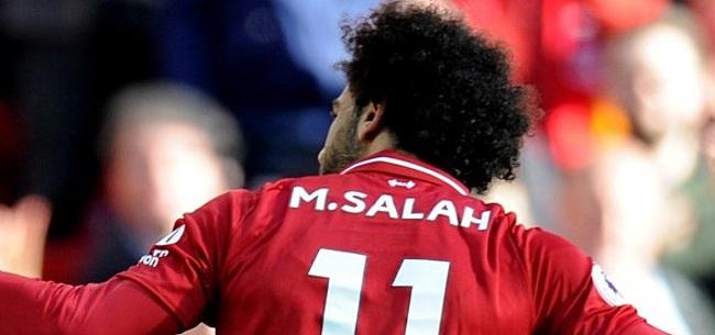 Foto: Salah schiet Liverpool op herkenbare wijze naar winst