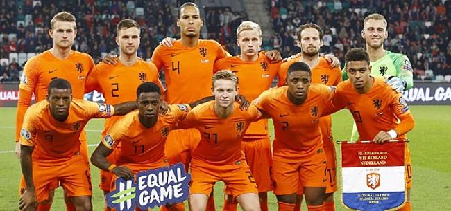 Foto: Oranje in leeg stadion tegen Polen en Italië