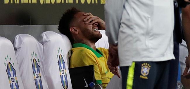 Foto: Neymar klapt vol door enkel en verlaat veld in tranen