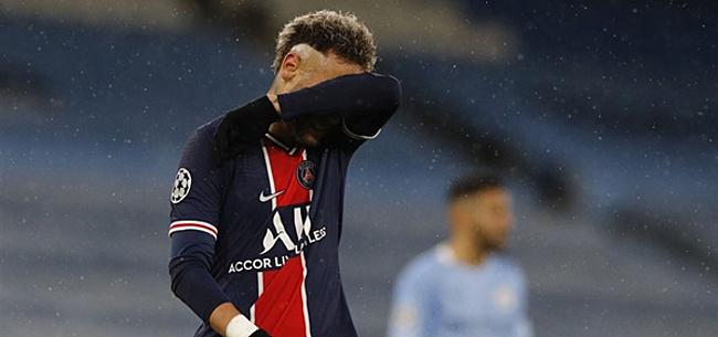 Foto: Neymar helemaal afgemaakt: