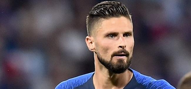Foto: Giroud legt spanningen bij Frankrijk bloot: