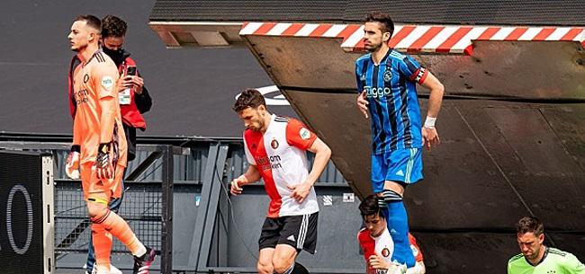 Foto: Kijkers Feyenoord - Ajax gaan los:
