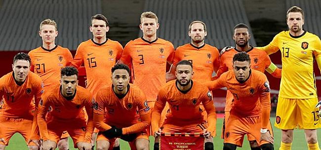 Foto: 'Oranje-internationals in gesprek over opstand'