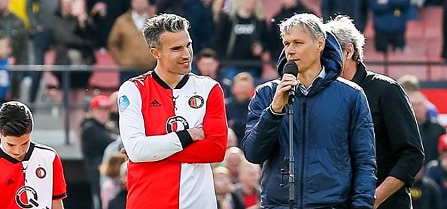 Foto: Van Basten leeft mee met Feyenoord: