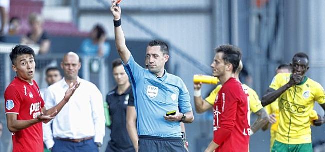 Foto: Twee rode kaarten en eigen goal: FC Twente schiet zich in top drie Eredivisie