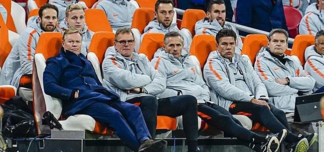 Foto: Oefeninterland Oranje op losse schroeven