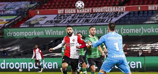 Foto: Kijkers Feyenoord-PEC schrikken: 'On-ge-loof-lijk'